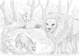 Magarul, Vulpea si Leul
