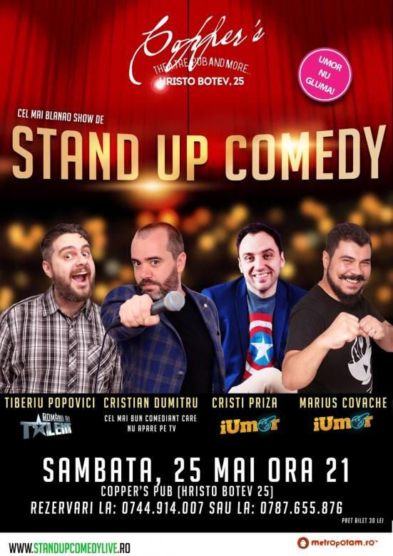 Stand-Up Comedy in Bucuresti Sambata seara (25 mai 2019)