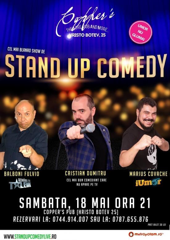 Stand-Up Comedy, Bucuresti, Sambata, 18 Mai 2019