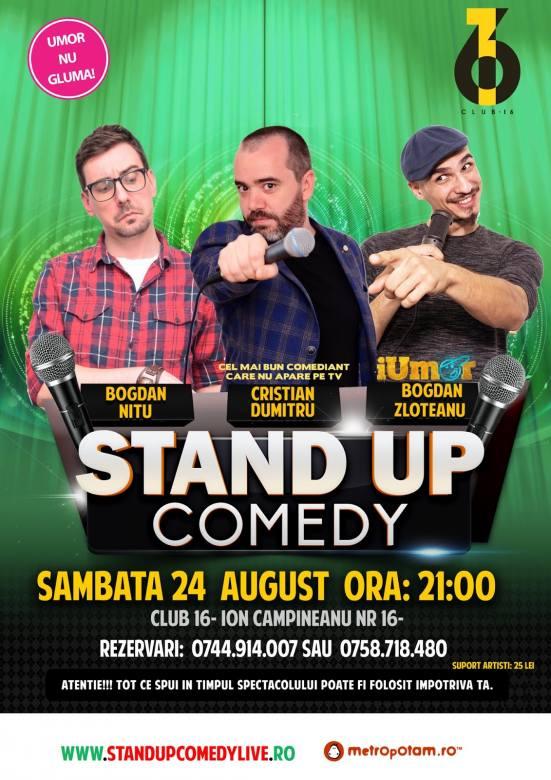 Stand-Up Comedy Bucuresti, Sambata 24 August 2019