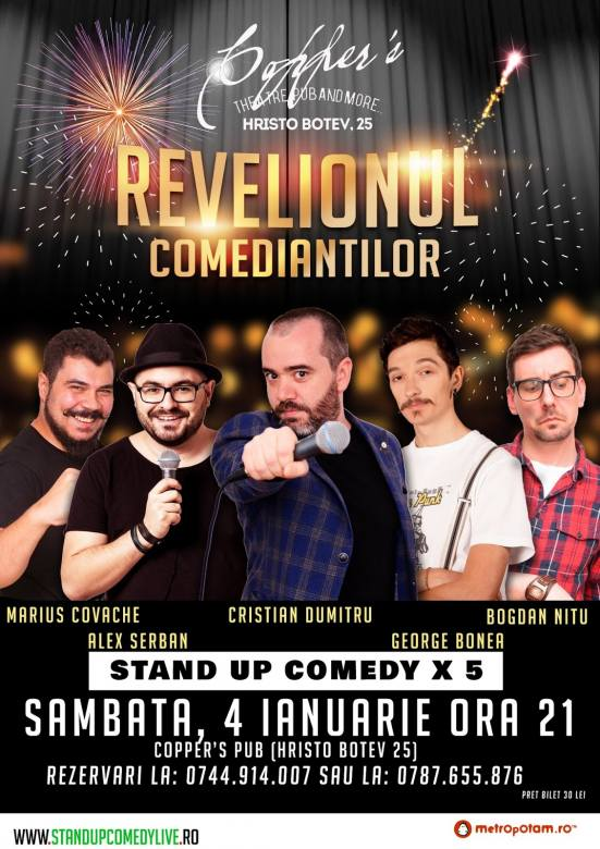 Stand-Up Comedy: Revelionul Comediantilor (Sambata, 4 Ianuarie 2020)